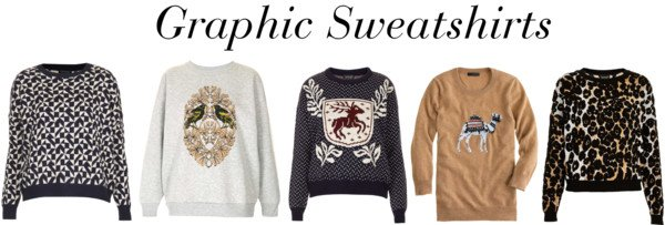 My favorite fall trend: Graphic Sweatshirts