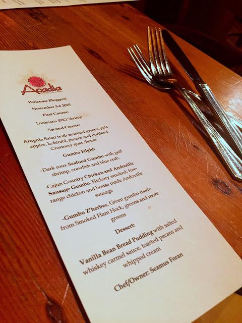 Restaurant Events: Acadia's Gumbo Weekend