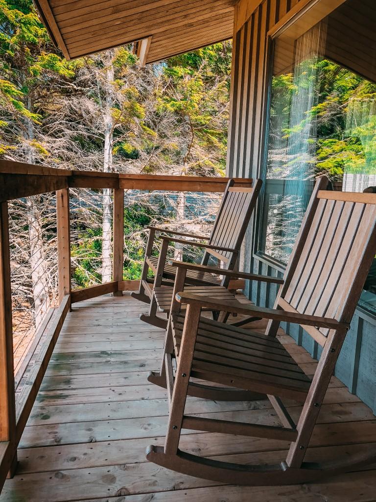 salishan resort porch rocking chairs